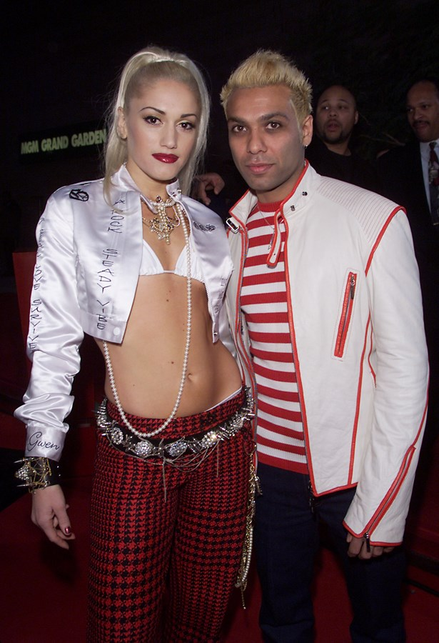 <p> Gwen Stefani and Tony Kanal <p> It's one thing to be in a band with someone after breaking up with them, but another to get international fame off of your break-up songs. The No Doubt songs 'Don't Speak', 'Sunday Morning' and 'Hey You!' were all reportedly inspired by their relationship.