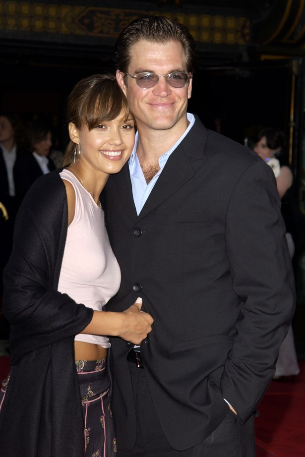 "<p> Jessica Alba and Michael Weatherly <p> Despite the 12 year age gap, Jessica and Michael dated on the set of <em>Dark Angel</em> for three years before ending their engagement in 2003. In 2007, Alba commented, saying, ""I don't know [why I got engaged]. I was a virgin. He was 12 years older than me. I thought he knew better. My parents weren't happy. They're really religious. They believe God wouldn't allow the Bible to be written if it wasn't what they are supposed to believe. I'm completely different."""