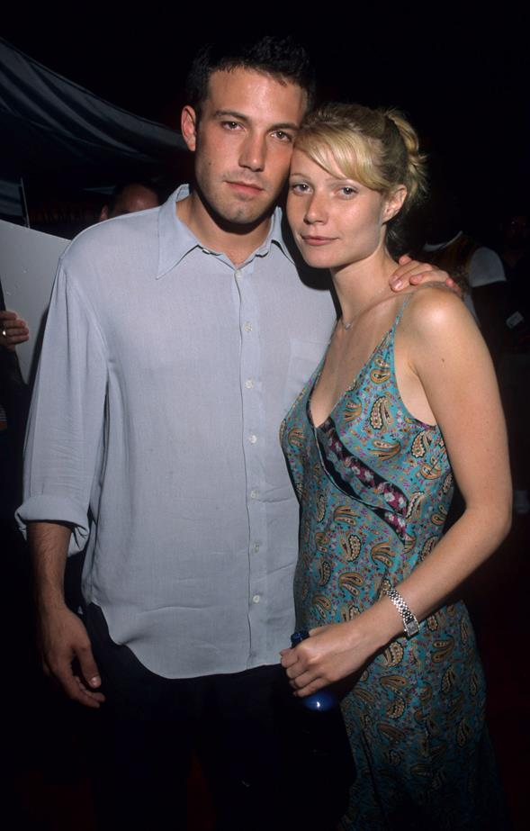 <p> Gwyneth Paltrow and Ben Affleck <p> Gwyn and Ben met and started dating while filming<em> Shakespeare In Love</em> and broke up shortly thereafter. But the two later came together again to make the film <em>Bounce</em>.