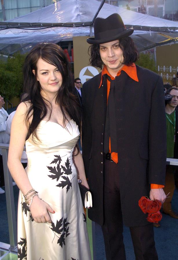 <p> Jack and Meg White <p> Although they tried to fool everyone by saying they were brother and sister, Jack and Meg White of The White Stripes were married for four years. They continued to play together after breaking up.