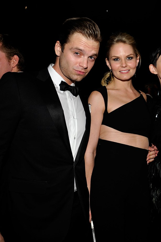 <p> Sebastian Stan and Jennifer Morrison <p> Jennifer and Sebastian dated for a year while working on <em>Once Upon A Time</em> together.