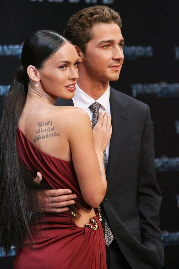 <p> Megan Fox and Shia LaBeouf <p> These two met on the set of <em>Transformers</em>, but still had to film one more movie after ending their brief relationship.
