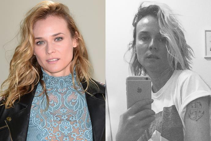 Diane Kruger appears to have chopped her collarbone-length tresses into a shoulder-brushing crop. And we dig.