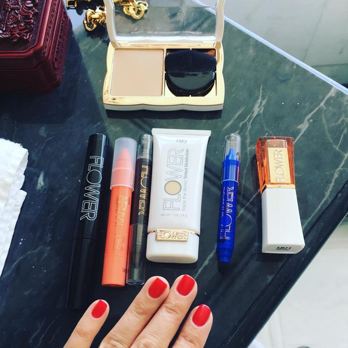 """<p><strong>Who:</strong> Drew Barrymore <p><strong>Brand:</strong> Flower Beauty <p><strong>What:</strong> The tagline for Flower Beauty is """"Love the way you look."""" It's a complete makeup line with base and colour products, and it's super affordable, too."""