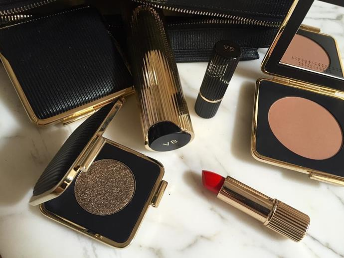 <p><strong>Who:</strong> Victoria Beckham <p><strong>Brand:</strong> Victoria Beckham Estée Lauder Collection <p><strong>What:</strong> Victoria collaborated with Estée Lauder to create a 14-piece capsule colour collection that has a strong focus on eyes and lips.