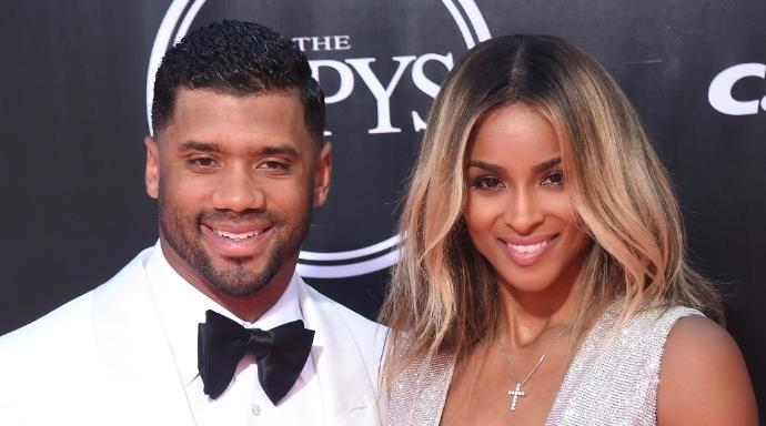 Ciara and Russell Wilson.