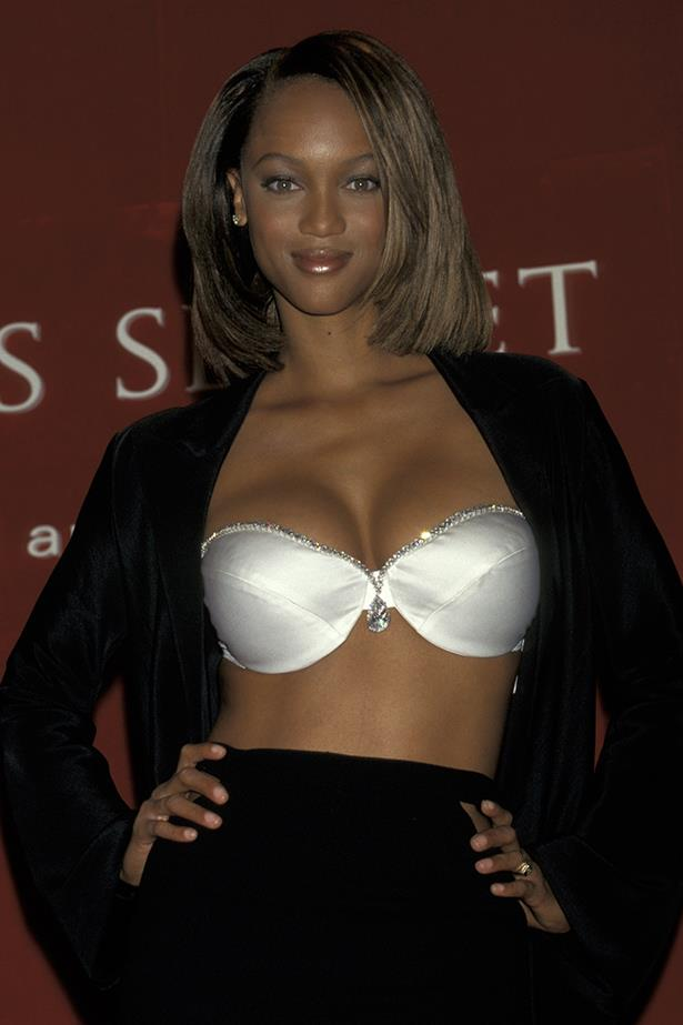 <p> <strong>The Year:</strong> 1997.<p> <P> <strong>The Bra:</strong> The 'Diamond Dream Bra' is considered to be one of the plainest in history, although it was worth $3.9 million—it's also the only strapless Fantasy Bra.<p> <p> <strong>The Wearer:</strong> Tyra Banks.<p>