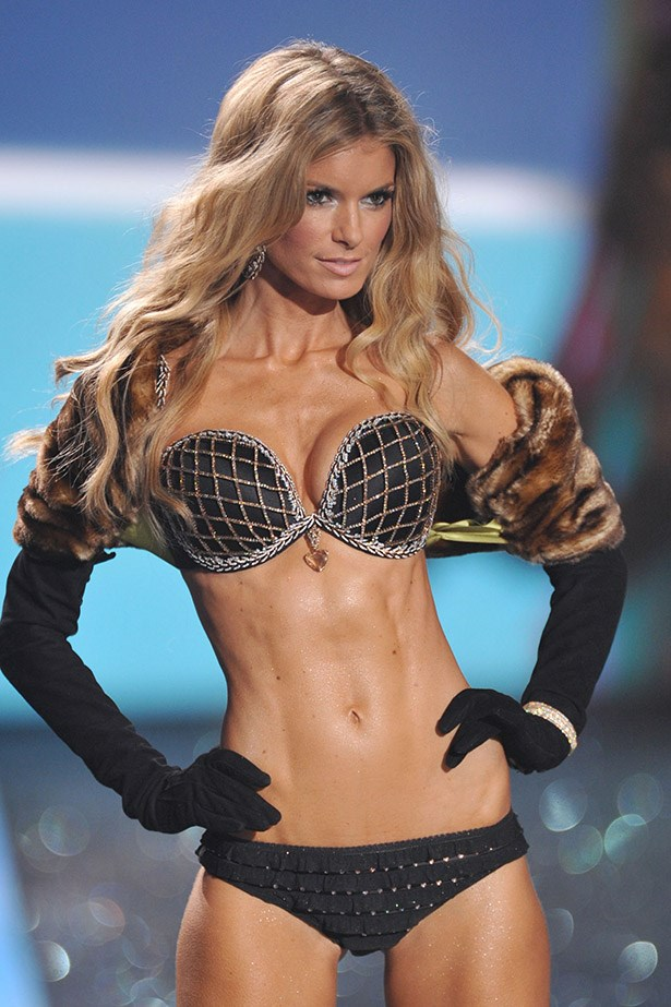 <p> <strong>The Year:</strong> 2009.<p> <P> <strong>The Bra:</strong> With a 16 carat heart-shaped pendant at its centre, the 'Harlequin Fantasy Bra' was worth $3.9 million. <p> <p> <strong>The Wearer:</strong> Marisa Miller.<p>