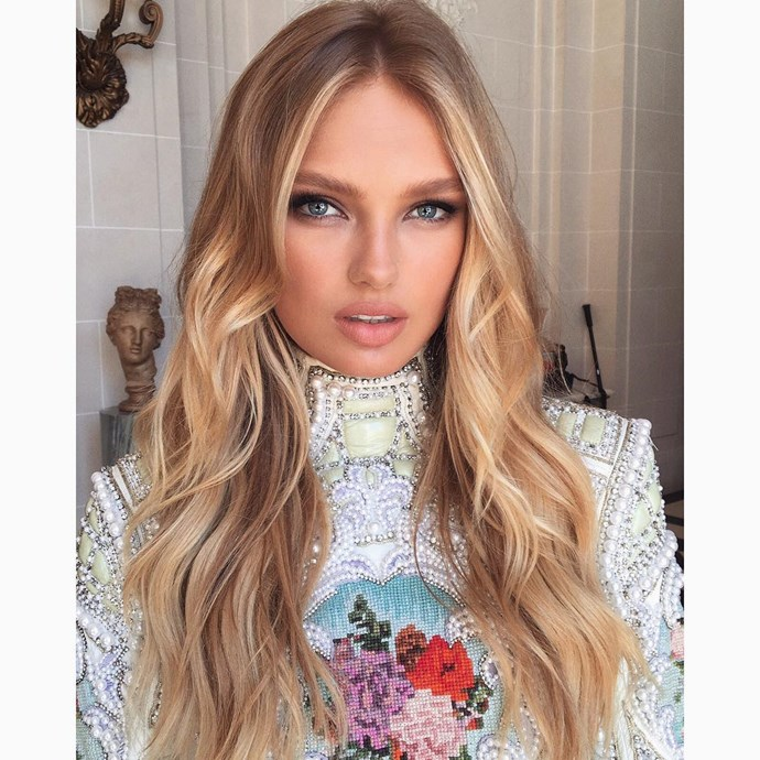<p> <strong>Romee Strijd, 21. </strong><p> <P> <strong>Status:</strong> Angel.<p>