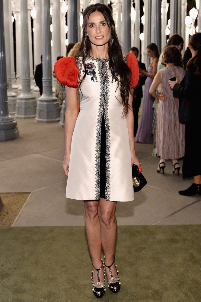 Demi Moore at the LACMA Art + Film Gala, presented by Gucci.