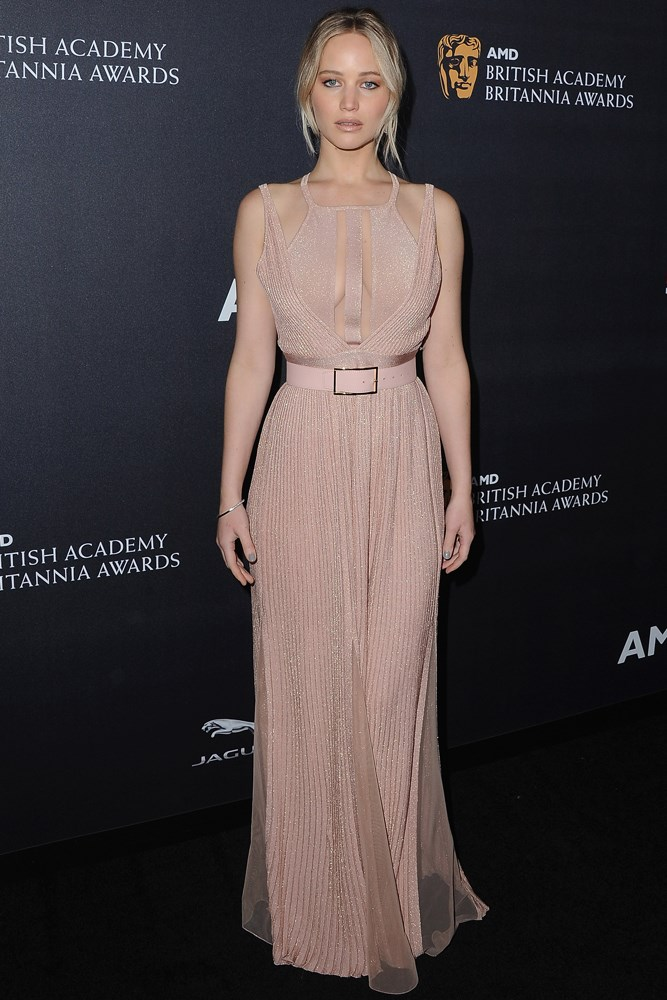 Jennifer Lawrence, at the Britannia Awards in Los Angeles.