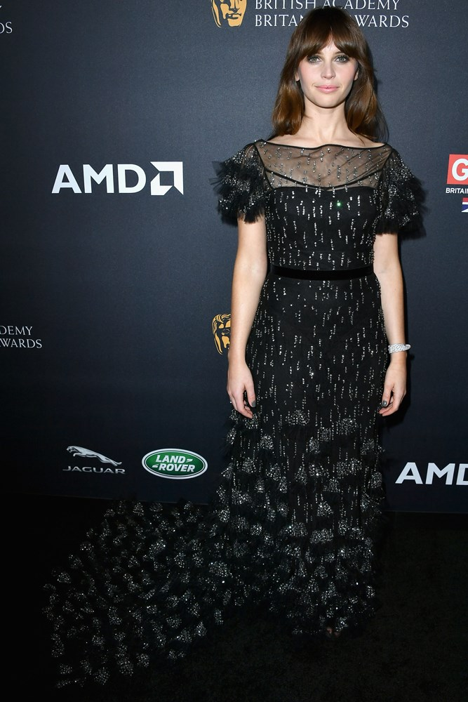 Felicity Jones, at the Britannia Awards in Los Angeles.