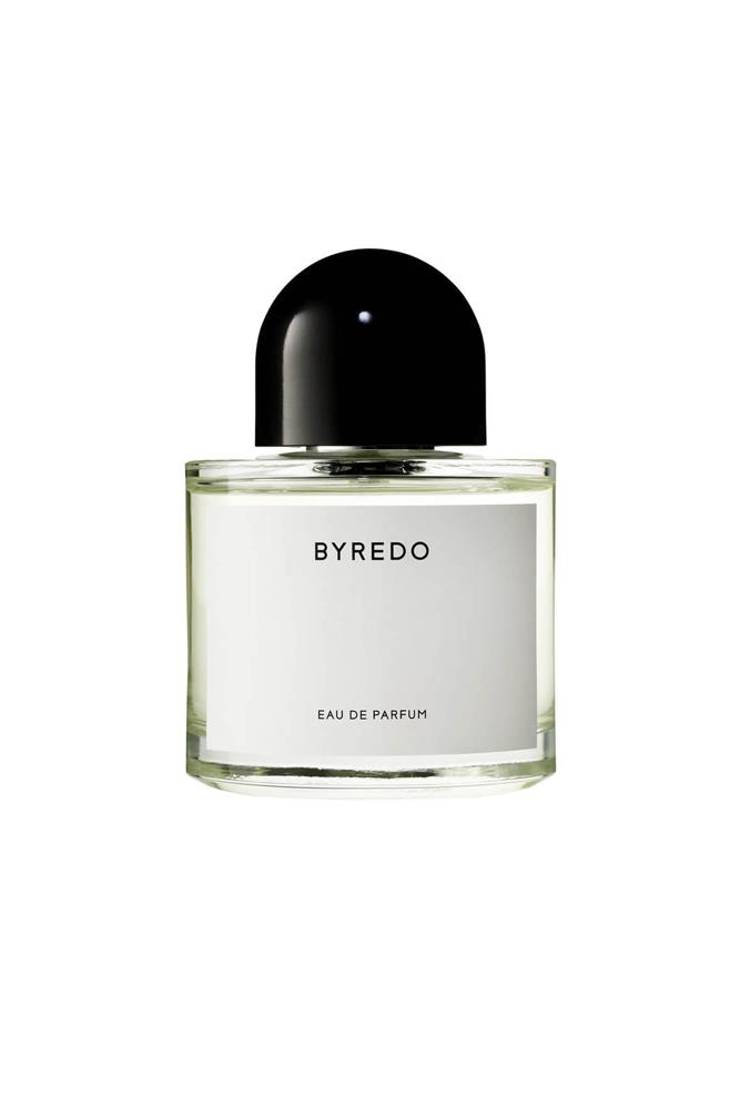 "Customisable by name and unisex by nature, this new fragrance from Byredo has notes of gin accord, pink pepper, orris stem, lush violet, tree moss and fir balsam.<br><br> <a href=""http://mecca.com.au/byredo/unnamed-perfume/V-024752.html"">Unnamed Perfume, $240 for 100ml, Byredo</a>"