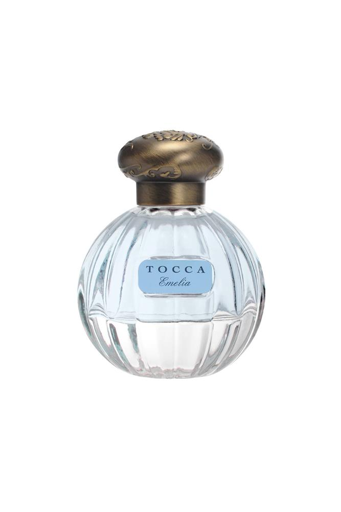 "The latest in Tocca's line of über pretty scents, 'Emilia' has notes of fig, clementine, loquat fruit, geranium, magnolia, amaryllis, florentine orris, praline and coconut water.<br><br> <a href=""http://mecca.com.au/tocca/emelia-edp/V-023498.html"">Emilia EDP, $99 for 50ml, Tocca</a>"
