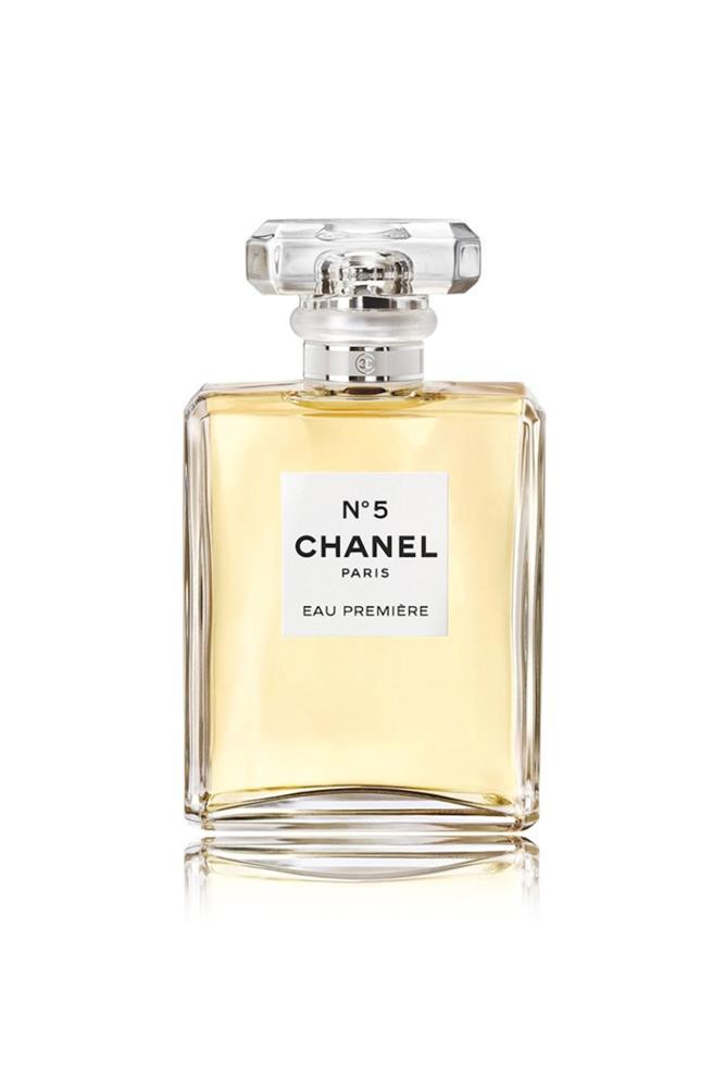 "A new play on the classic Chanel No. 5, Eau Première has notes of neroli, ylang ylang, jasmine, rose, vetyver, sandalwood and vanille.<br><br> <a href=""http://shop.davidjones.com.au/djs/en/davidjones/n%C2%B05-eau-premi%C3%A8re-spray-100ml"">No. 5 Eau Première Spray, $234 for 100ml, Chanel</a>"