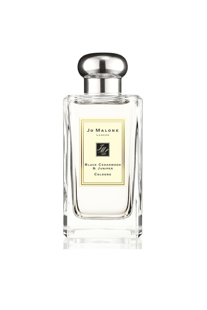 "Fans of Jo Malone London's unique scents will adore this new incanarnation, with cumin and chilli leaves, moss, cumin, juniper, black cedarwood and Virginian cedarwood. <br><br> <a href=""http://shop.davidjones.com.au/djs/en/davidjones/black-cedarwood---juniper-cologne-100ml"">Black Cedarwood & Juniper Cologne, $195 for 100ml, Jo Malone London</a>"