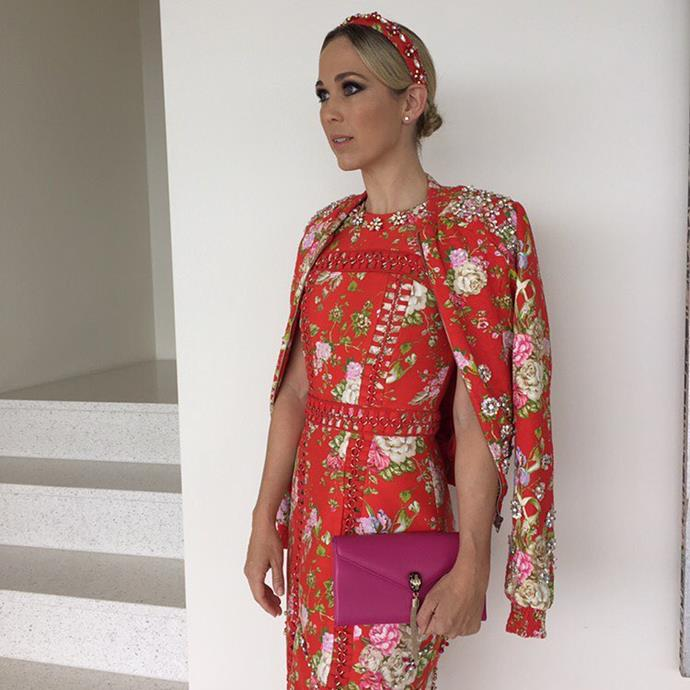 "<p>Bec Hewitt felt like prints for Cup Day. <p><a href=""https://www.instagram.com/p/BMPun0bFsVg/"">Instagram.com/bechewitt23</a>"