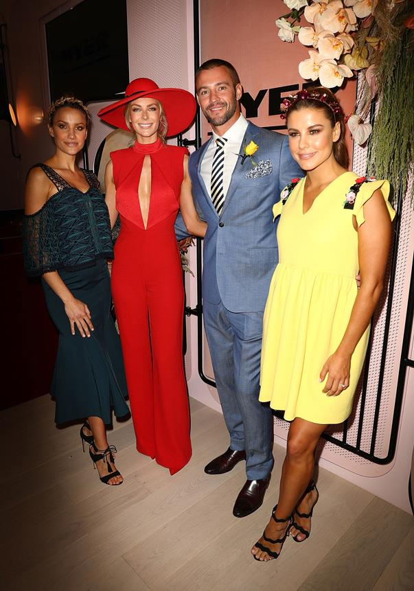 <p>Rachael Finch, Jennifer Hawkins, Kris Smith and Lauren Phillips.