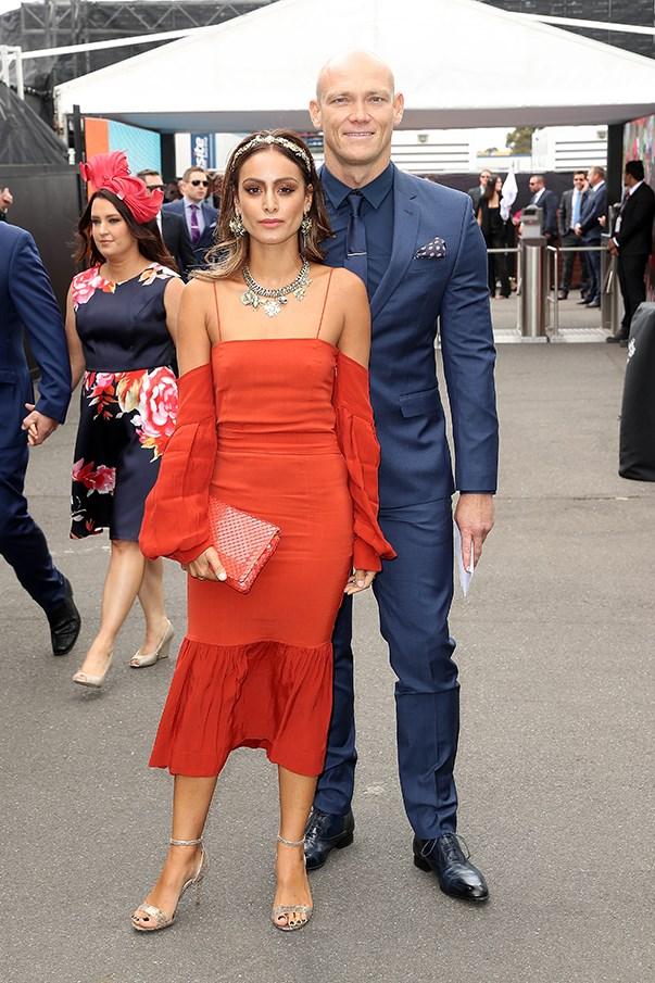 <p>Michael Klim and girlfriend Desiree Deravi.