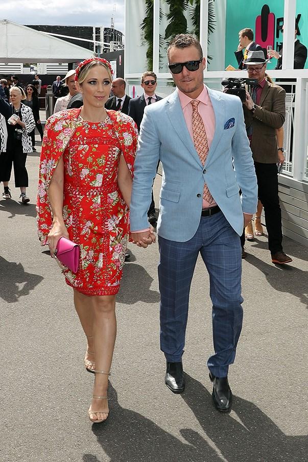 <p>Bec Hewitt in Cristahlea with husband Lleyton Hewitt.