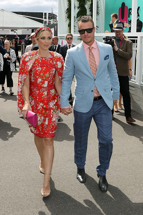 <p>Bec Hewitt in Cristahlea with husband Lleyton Hewitt.