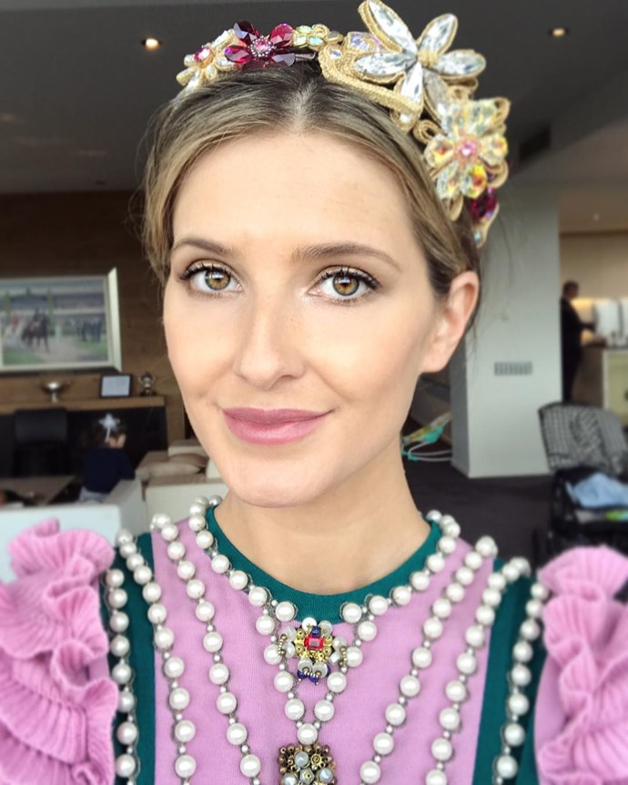 "<p>Kate Waterhouse showed off her flawless hair and makeup for Cup Day. <p><a href=""https://www.instagram.com/p/BMPrXE_jihA/"">Instagram.com/katewaterhouse7</a>"