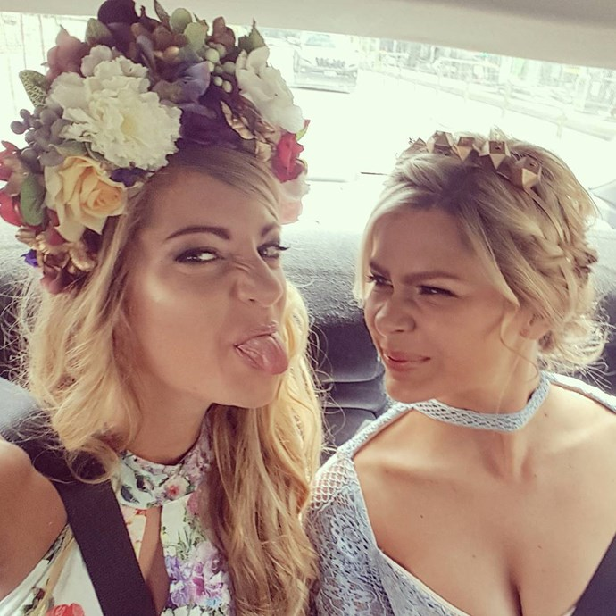 "<p>Tiffany Scanlon and Megan Marx from <em>The Bachelor</em> joked around on their way to the racecourse. <p><a href=""https://www.instagram.com/p/BMP9XDnBaHS/"">Instagram.com/tiffany_janes</a>"