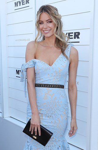Jennifer Hawkins Wearing Tallulah at Oaks Day 2016