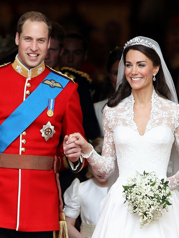 "<p><strong>Prince William and Kate Middleton of England</strong> <p>The Duke and Duchess of Cambridge met as university students in 2001—they were both residents at St. Salvator's Hall at the University of St. Andrews and reportedly started dating in 2003. However, <a href=""http://www.eonline.com/au/news/460068/biographer-spills-how-kate-middleton-and-prince-william-really-met-and-all-about-kate-s-first-love"" target=""_blank"">biographer Katie Nicholl opposed this story</a>, and said in 2013 one of Kate's friends from Marlborough College said, ""Uh-uh, she didn't meet him at St. Andrews. She met him before she got there, while she was at school during her sixth form, through some friends. They knew Prince William and Prince Harry, so there wasn't any meeting [at school]."" They married on April 29, 2011, and are parents to two young children, Prince George and Princess Charlotte."