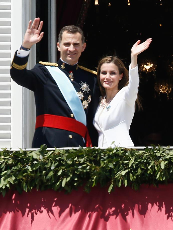 "<p><strong>King Felipe VI and Queen Letizia of Spain</strong> <p>King Felipe's decision to marry Queen Letizia in May 2004 was controversial because she was—gasp—a divorced commoner. This didn't sit very well with the traditional Catholics in Spain. Before she became a royal, Queen Letizia worked as a journalist and news anchor, and met her future husband <a href=""http://www.thedailybeast.com/articles/2014/06/02/meet-the-new-queen-of-spain-41-year-old-divorcee-and-commoner-letizia-ortiz.html"" target=""_blank"">while on assignment</a> in November 2002, covering a story about an oil spillage in northern Spain.  <br><br> While some reports say she actually interviewed him, the story is the prince was there offering his support, and that's when they started their romance. And other reports suggest they had met previously at a dinner party. The royal couple has two daughters together: Princess Leonor and Princess Sofía."