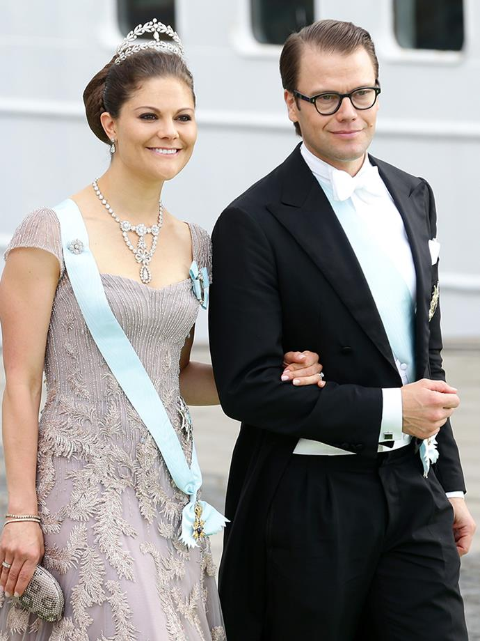 <p><strong>Crown Princess Victoria and Prince Daniel of Sweden</strong> <p>Prior to becoming Crown Princess Victoria's husband, Prince Daniel (born Olof Daniel Westling) was her personal trainer. They had to receive permission from King Carl XVI Gustaf, Victoria's father, and the Government of Sweden to get engaged. They were married on June 19, 2010, and have two children: Princess Estelle and Prince Oscar.