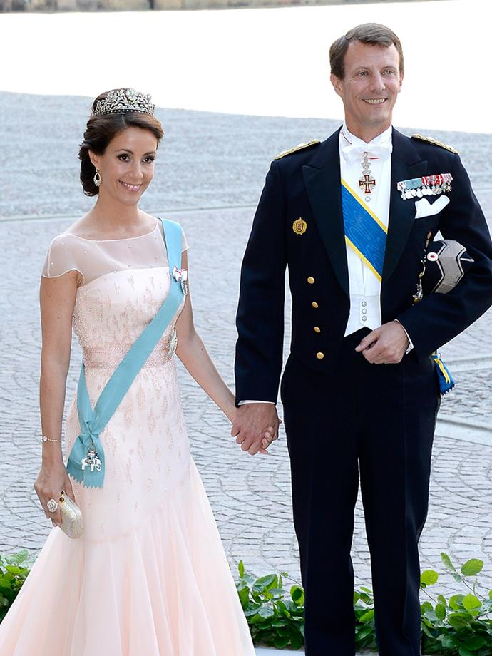"<p><strong>Prince Joachim and Princess Marie of Denmark</strong> <p>Prince Joachim, the younger brother of Crown Prince Frederik, was previously married to Alexandra, Countess of Frederiksborg, with whom he has two sons. They divorced in April 2005. Prince Joachim is now married to Princess Marie, whom he wed in May 2008. <br><br> He revealed how they met in an <a href=""http://www.hellomagazine.com/royalty/2016020829684/princess-marie-denmark-hello-photos/"" target=""_blank"">interview with <em>Hello!</em></a> in February 2016, saying, ""It was pure coincidence that we met. I was married at the time. But because we happened to be the only two French-speaking people at the dinner, our host seated us next to each other. And as Marie had never been to Denmark it was fun to talk to her. Our romance, however, started much later."" Prince Joachim and Princess Marie also have two children together."