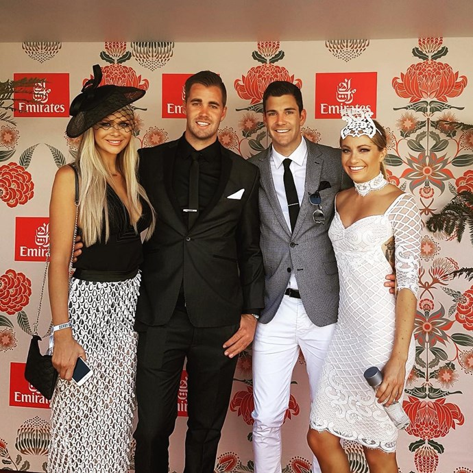 "<p>Megan Marx met Cameron Cranley (and his brother, Kyle) for the first time at Derby Day. By this point Cam and Tiffany Scanlon were already seasoned pals. <p><a href=""https://www.instagram.com/p/BMLK52ihhAF/"" target=""_blank"">Instagram.com/megan.leto.marx</a>"