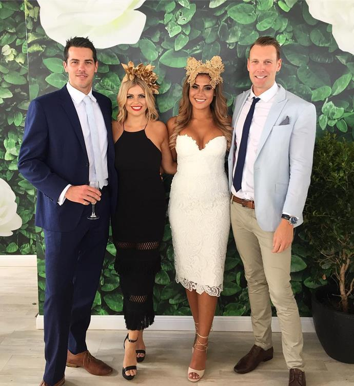 "<p>Brisbane-based contestants Jake Ellis, Faith Williams, Noni Janur and Clancy Ryan linked up for the Melbourne Cup. <p><a href=""https://www.instagram.com/p/BMQGT1SgMI7/"" target=""_blank"">Instagram.com/nonijanur</a>"