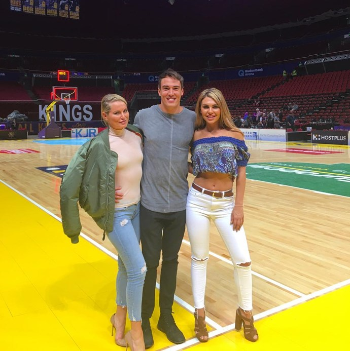 "<p>Keira Maguire, Courtney Dober and Kiki Morris all went to a Sydney Kings game. <p><a href=""https://www.instagram.com/p/BL8V64xh3BY/"" target=""_blank"">Instagram.com/kikimorris</a>"