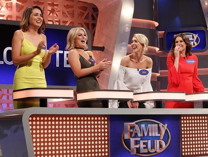 "<p>Heather Maltman, Keira Maguire, Alex Nation and Georgia Love joined forces on the Bachelorette team for an upcoming all-star episode of <em>Family Feud</em>. <p><a href=""https://www.instagram.com/p/BMVo_2PDqM0/"" target=""_blank"">Instagram.com/keiramaguire</a>"