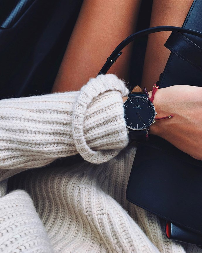 "<p>Classic Black Reading Watch, $279, <a href=""https://www.danielwellington.com/au/classic-reading-36mm-555"">Daniel Wellington</a>. <p><a href=""https://www.instagram.com/p/BLWpjXgjndH/"">Instagram.com/andicsinger</a>"