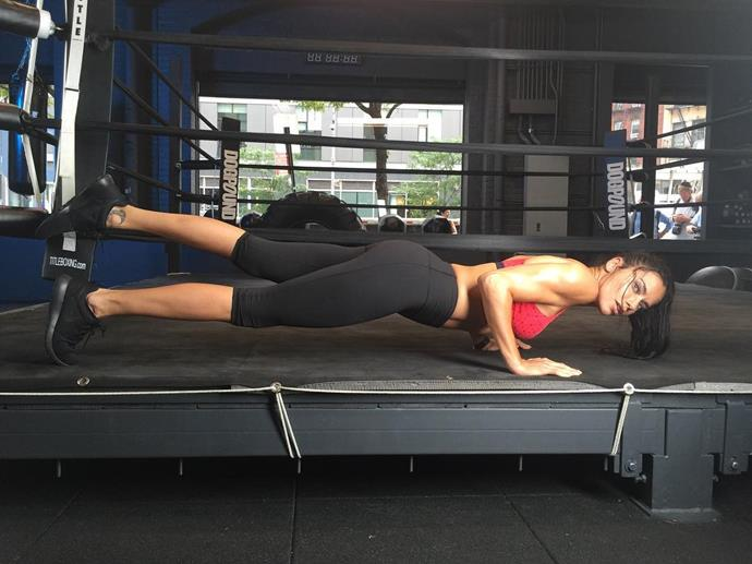 """Adriana Lima <br><br> This angel posts constant workout selfies on her <a href=""""https://www.instagram.com/adrianalima/"""">Instagram account,</a> many of which include boxing."""