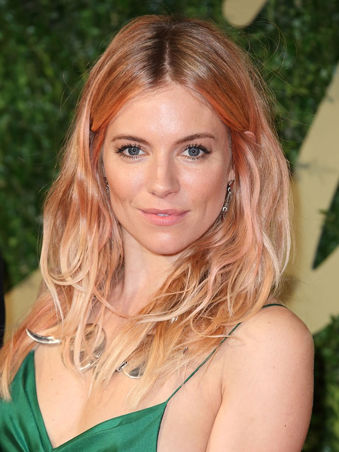 <p><strong>Sienna Miller</strong><br><br> <p>Almost everyone rushed to the salon with Sienna's picture after she debuted this pretty colour in December 2013.