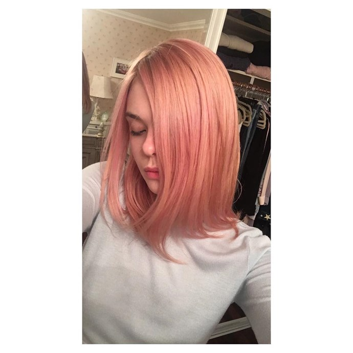 """<p><strong>Elle Fanning</strong> <br><br><p>Elle showed off <a href=""""https://www.instagram.com/p/BHwBAp_jG1o/"""" target=""""_blank"""">""""dusty rose"""" hair</a> earlier this year."""