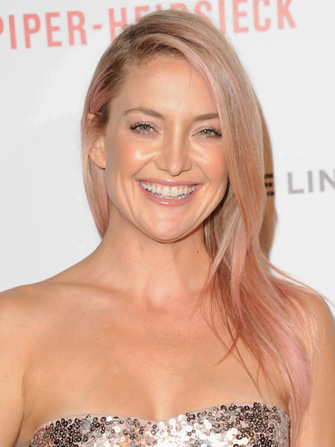 <p><strong>Kate Hudson</strong> <br><br><p>When Kate walked the red carpet with some subtle pink streaks in her hair in October 2014 she revealed it was to raise awareness for Breast Cancer Awareness Month.