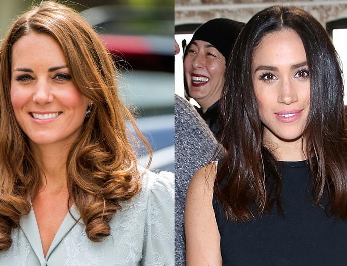 Kate Middleton and Meghan Markle.