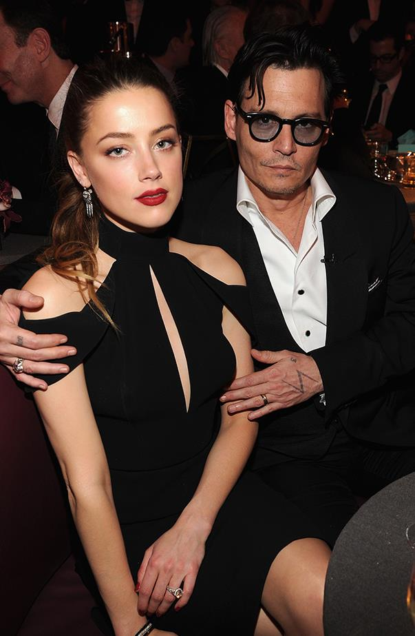 <p><strong>Johnny Depp and Amber Heard</strong> <p>It's been a dramatic year for Johnny and Amber—illegally bringing their dogs into Australia turned out to be the least of their problems. Amber filed for divorce from Johnny in May, and things took a turn for the worse from there. She then filed (and was granted) a restraining order, petitioned for spousal support and then retracted it. She settled the divorce in August.