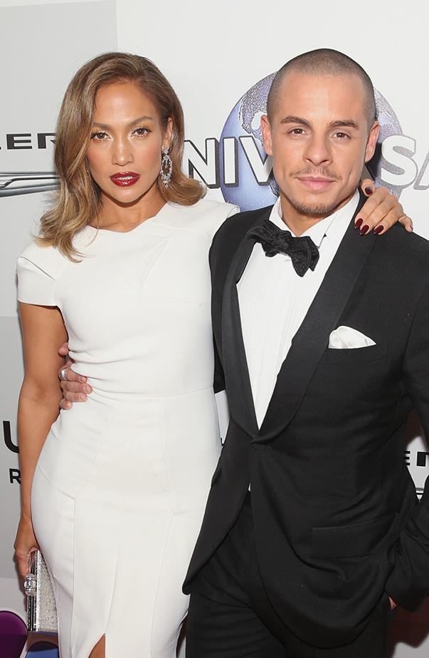 """<p><strong>Jennifer Lopez and Casper Smart</strong> <p>Jennifer and Casper, who were on and off for five years, called it quits in August. A source told <em>People</em>, """"It wasn't anything dramatic and they were on good terms—it just came to a natural end."""""""