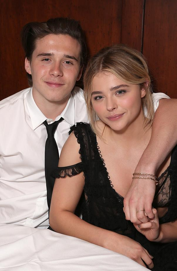 <p><strong>Chloë Moretz and Brooklyn Beckham</strong> <p> Chloë and Brooklyn had been inseparable in the months leading up to their September breakup—she even confirmed they were dating on Andy Cohen's <em>Watch What Happens Live</em> in May, saying there was less speculation about her relationship status if she just told the truth.