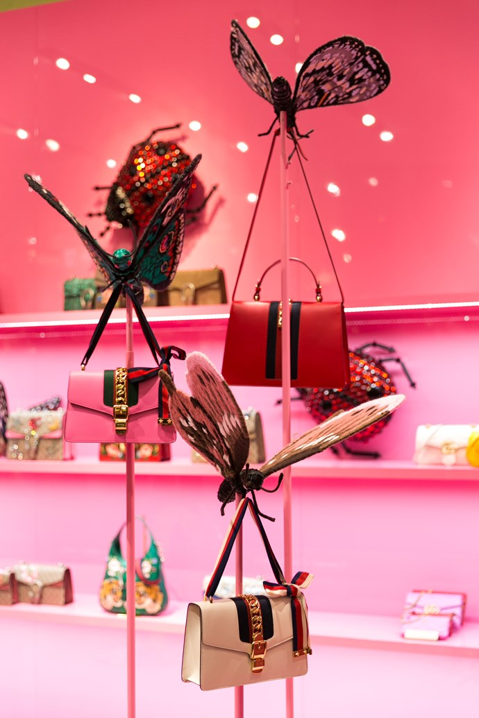 Butterflies and handbags