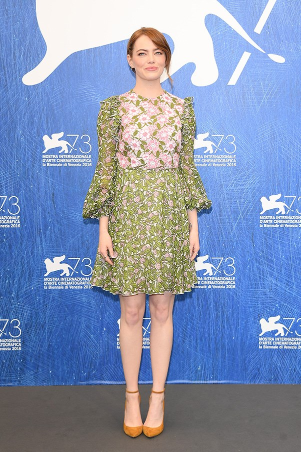 <p> <strong>Emma Stone</strong><p> <p> To some this may scream 'Sunday brunch' more than it does 'Date night', but Emma's pretty-as-a-picture dress is perfect for balmy summer evenings spent near the ocean.