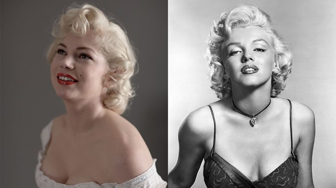 Michelle Williams played Marilyn Monroe in the 2012 film *My Week with Marylin*.