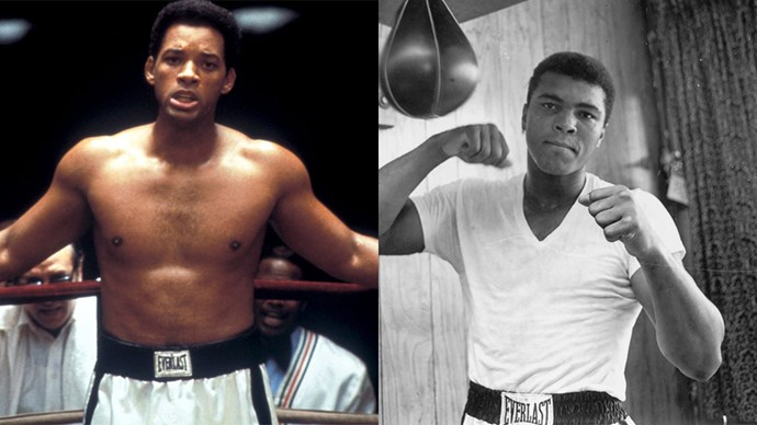 <strong><em>Ali</em></strong> <br><Br> Will Smith as Muhammad Ali.