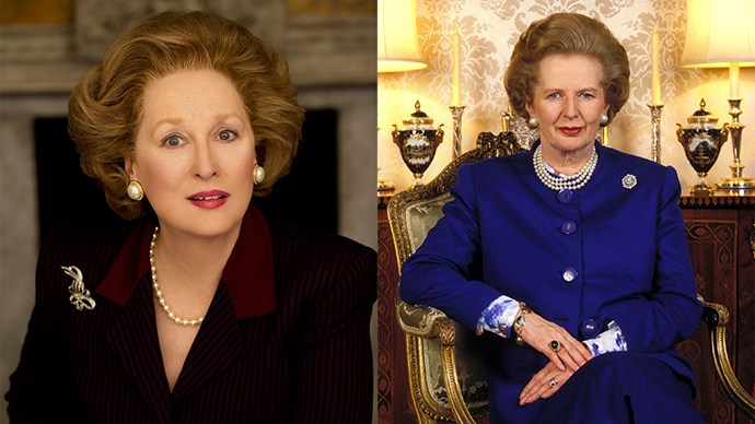 <strong><em>The Iron Lady</em></strong> <br><Br> Meryl Streep as Margaret Thatcher.